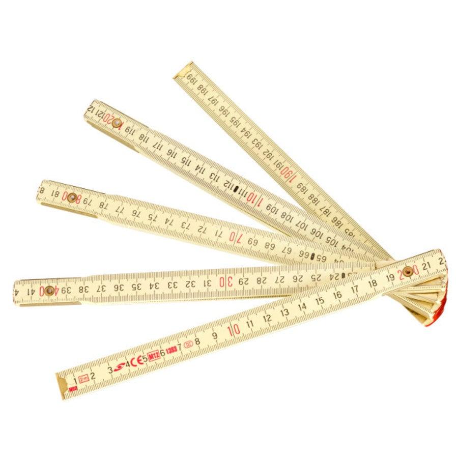 Vouwmeter 2m hout-1