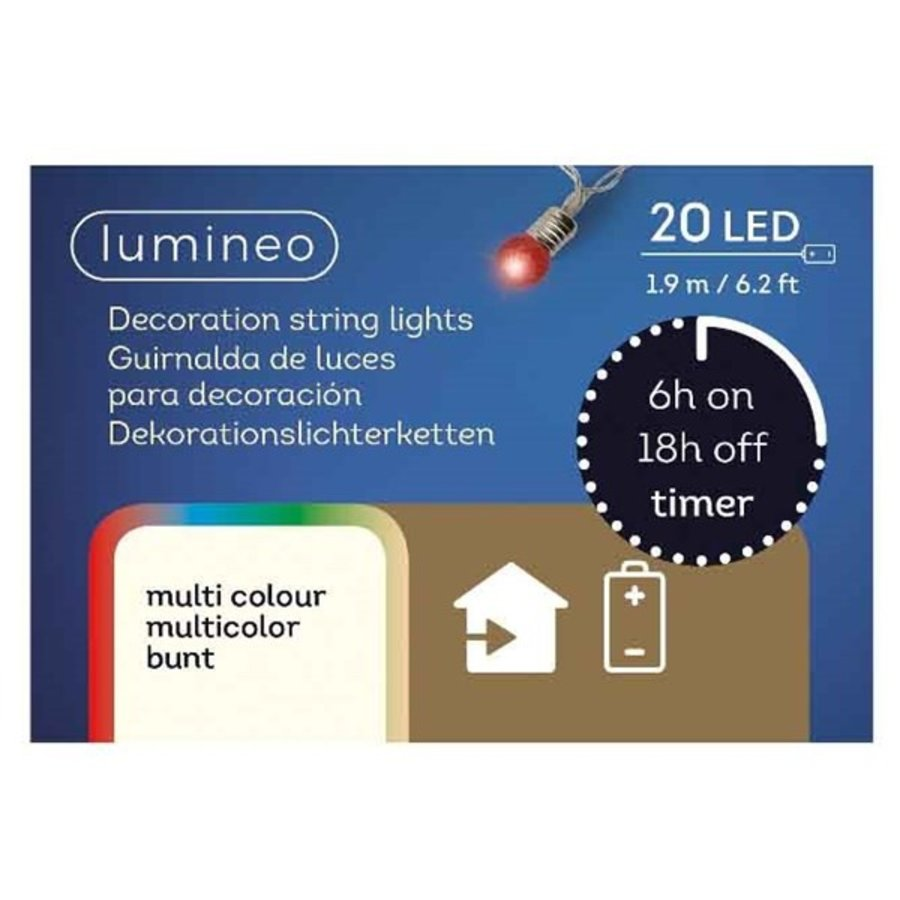 Led streng minilamp multicolor 20 lights-2