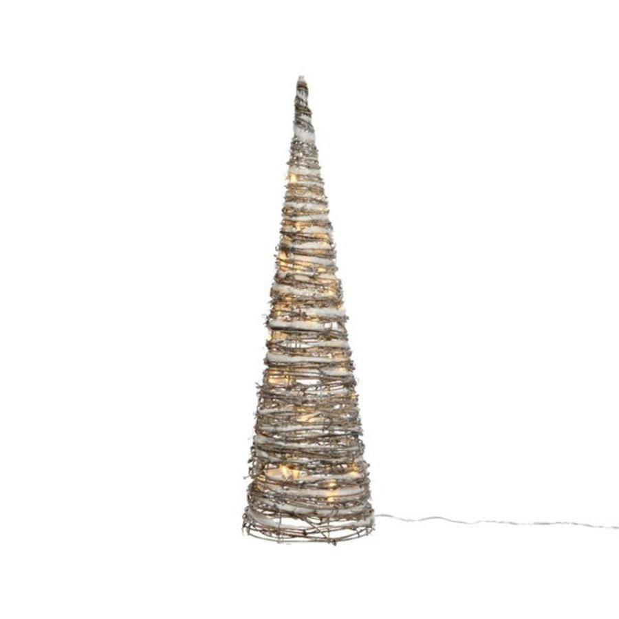 LED piramide rattan sneeuw  32 lights 60cm-1