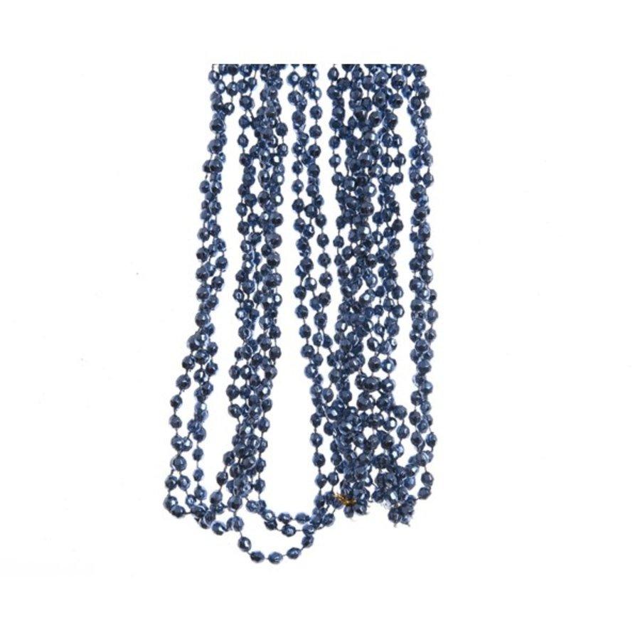 Kralenketting 0.5x270cm nachtblauw plastic-1
