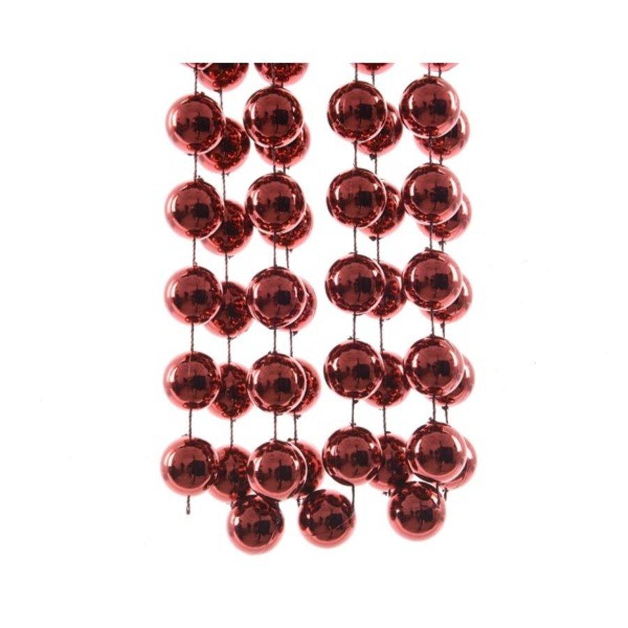 Kralenketting plastic dia2x270cm XXL bluch pink-1