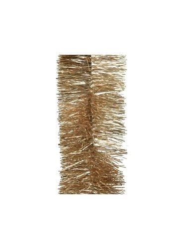 Decoris Guirlande lametta glans dia.7.5x270cm camel brown