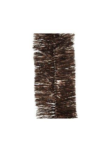 Decoris Guirlande lametta glans dia7.5x270cm d.bruin