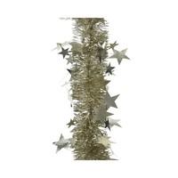 Guirlande lametta relief ster 12.5x270cm champagne