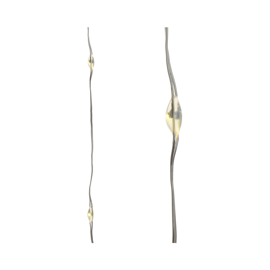 Micro LED budget streng bo silver wire, Warm Wit-1