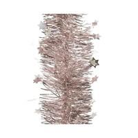 Guirlande lametta ster glans dia10x270cmblush pink
