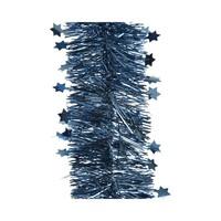 Guirlande lametta ster glans dia10x270cm night blue