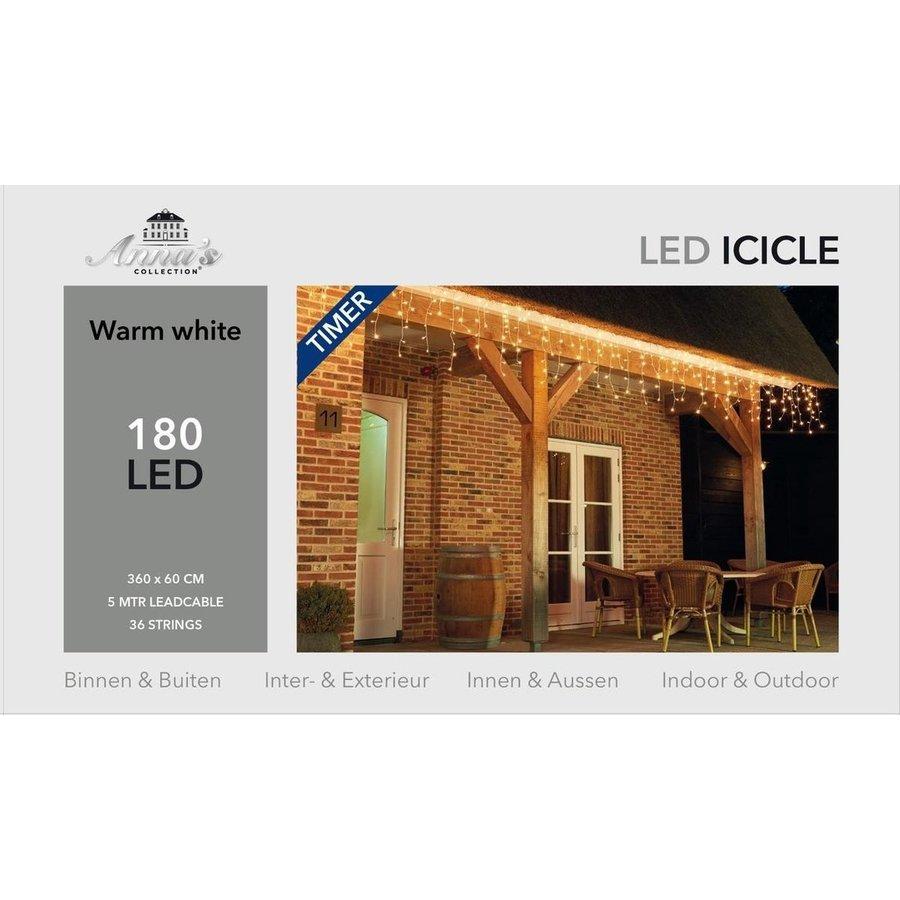 ICICLE Lights - Warm Wit - met Timer 8/16U-1