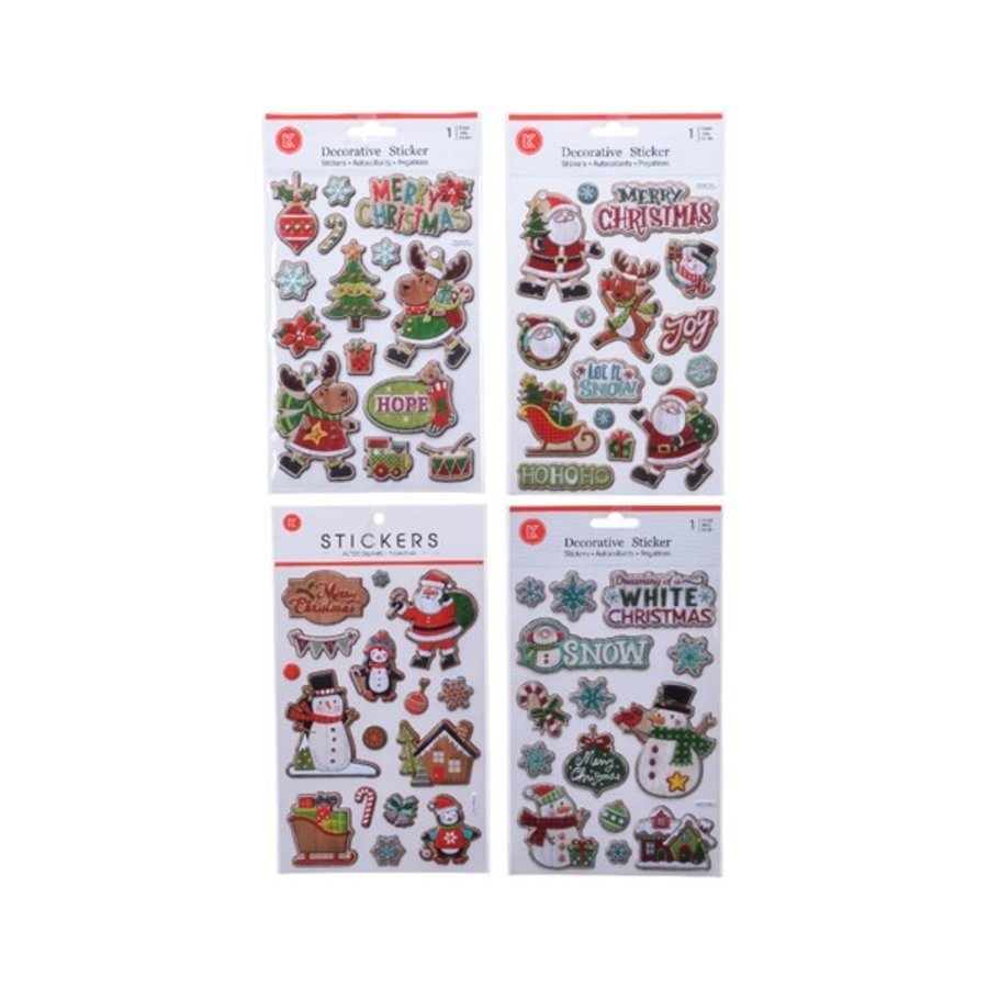 Stickers kerst  1 sheet 14x21cm-1