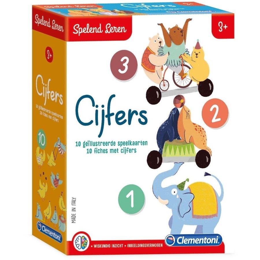 Spelend leren - speelkaarten -cijfers - 3+-1