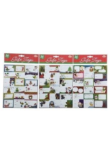 Decoris Geschenklabels stickers 36 sts 20x25.5cm