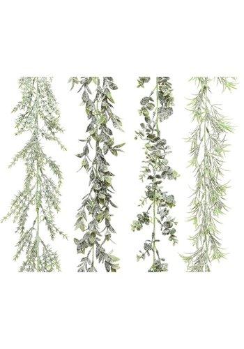 Decoris Guirlande plc sneeuwfinish dia4x180cm groen
