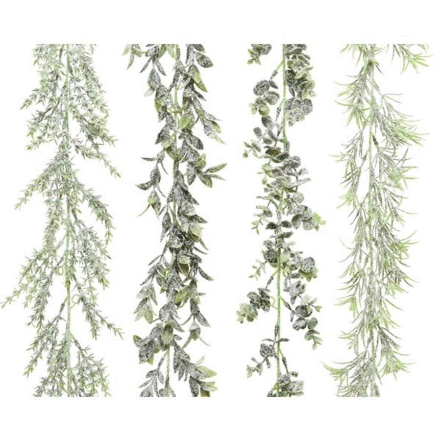 Guirlande plc sneeuwfinish dia4x180cm groen-1