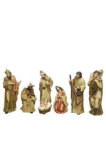 Decoris Kerstbeelden poly 7 figuren