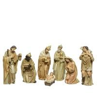 Kerstbeelden poly 7 stuks  +-20cm