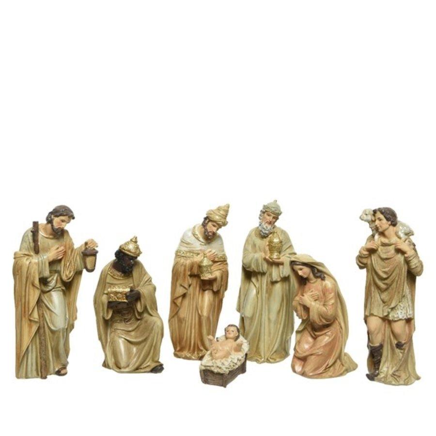 Kerstbeelden poly 7 stuks  +-20cm-1
