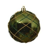 Plastic kerstbal, dia 8cm, groen
