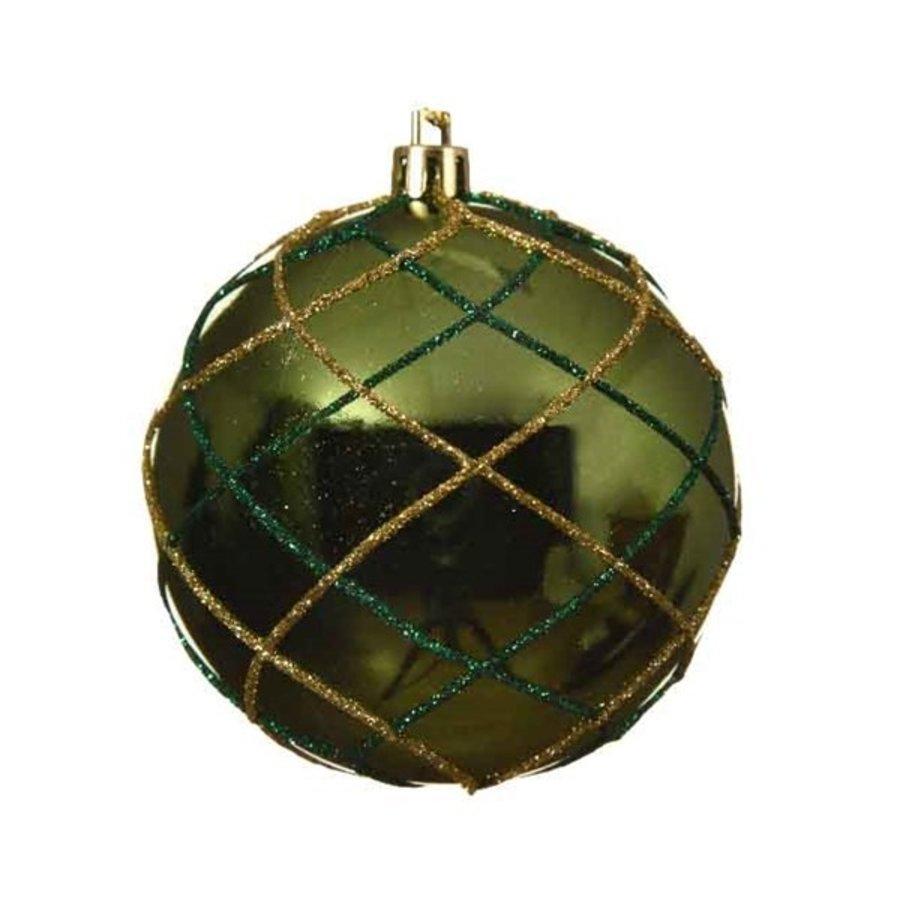 Plastic kerstbal, dia 8cm, groen-1