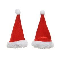 Haarspeld kerstmuts 9x5cm rood/wit /2