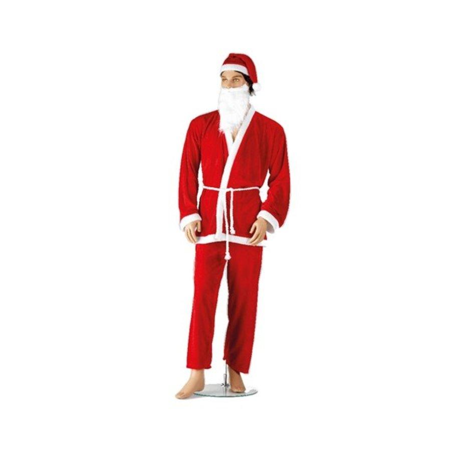 Kerstmanpak polyester volwassenen-1