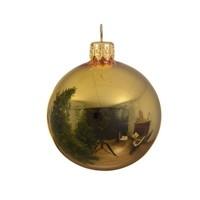 Kerstballen glas glans lichtgoud dia 7cm/6