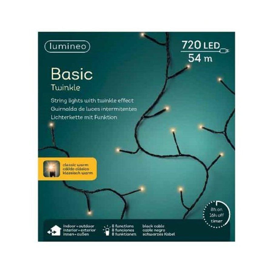 LED basic lights twinkle - black cable - Klassiek Warm-1