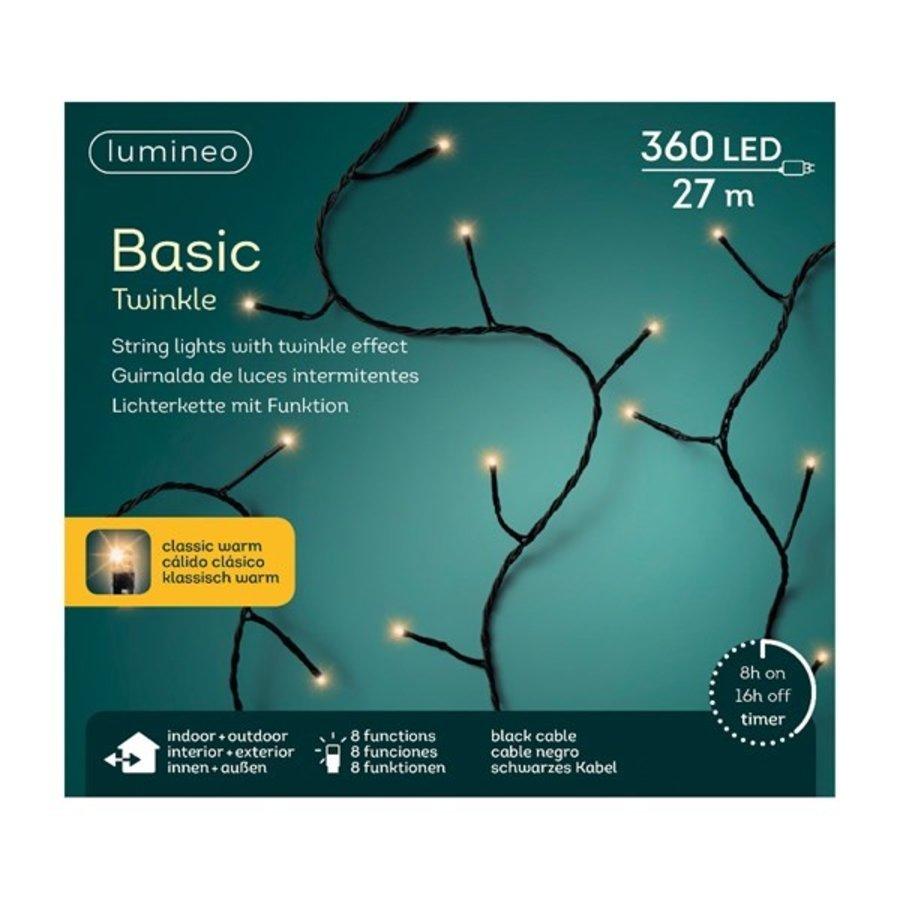 LED basic lights twinkle - black cable - Klassiek Warm-4