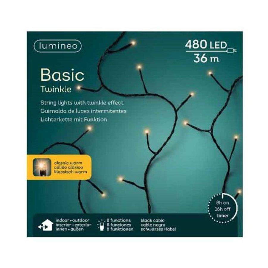 LED basic lights twinkle - black cable - Klassiek Warm-5
