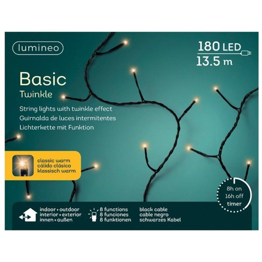 LED basic lights twinkle - black cable - Klassiek Warm-6