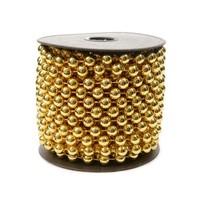 Kralenketting  plastic 0.8x1000cm licht goud