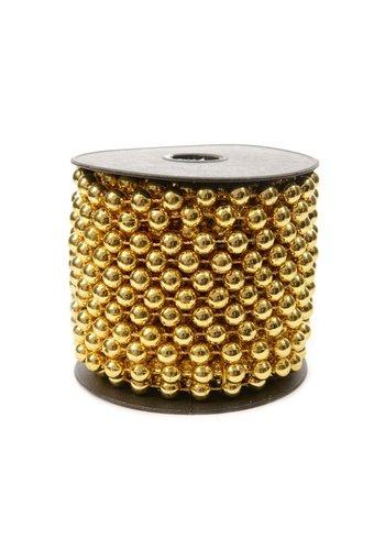 Decoris Kralenketting  plastic 0.8x1000cm licht goud