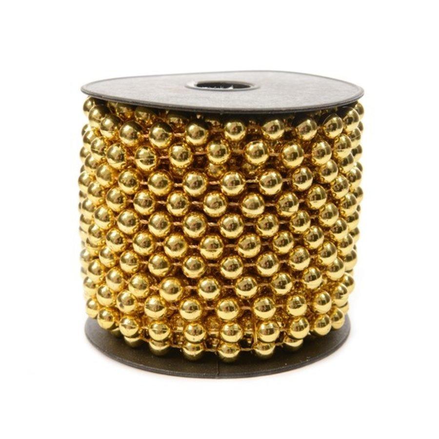 Kralenketting  plastic 0.8x1000cm licht goud-1