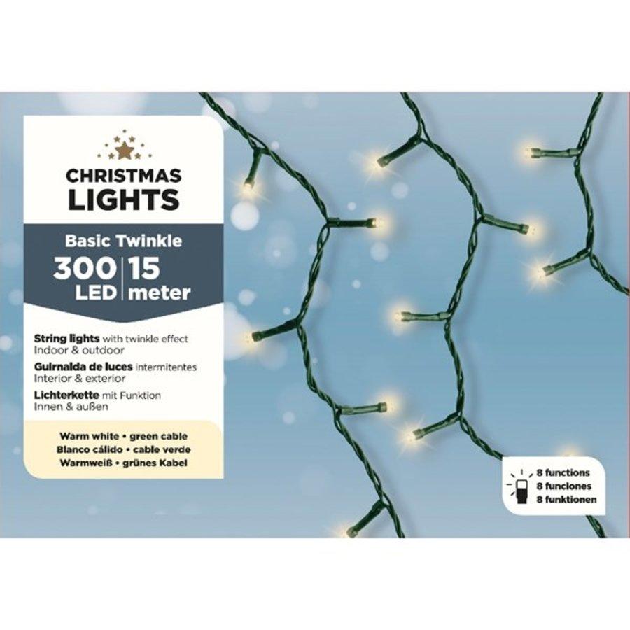 LED budget basic twinkle green cable - Klassiek Warm-1