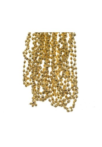 Decoris Kralenketting plastic diamant dia0.5x270cm licht goud