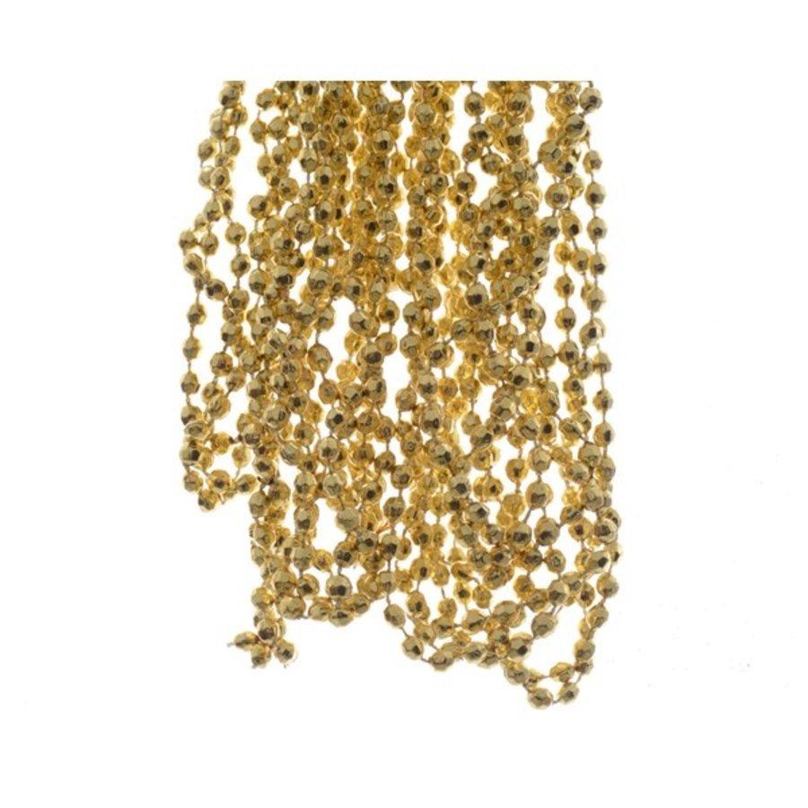 Kralenketting plastic diamant dia0.5x270cm licht goud-1