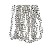 Kralenketting plastic diamant dia 0.5x270cm zilver