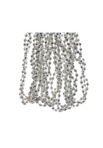 Decoris Kralenketting plastic diamant dia 0.5x270cm zilver