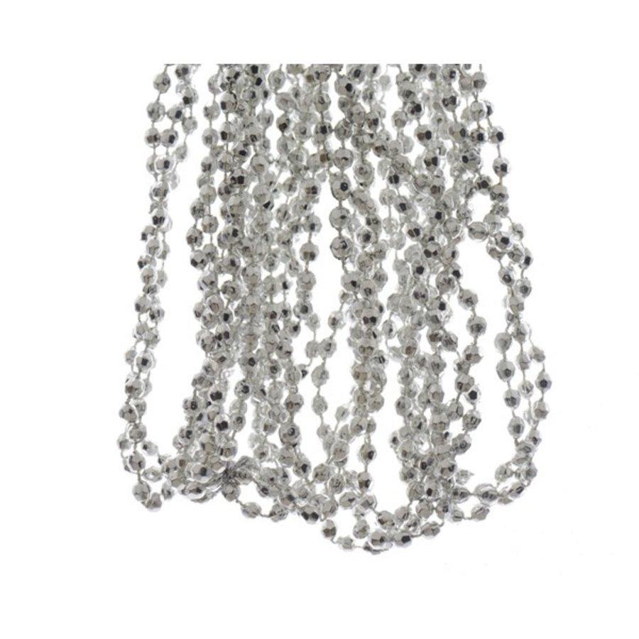 Kralenketting plastic diamant dia 0.5x270cm zilver-1