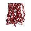 Decoris Kralenketting plastic diamant dia 0.5x270cm rood