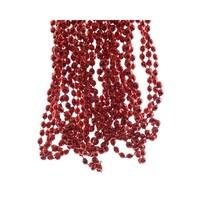 Kralenketting plastic diamant dia 0.5x270cm rood