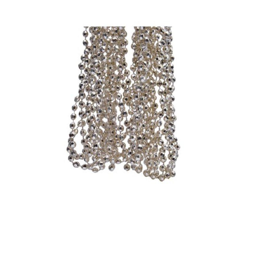 Kralenketting plastic diamant dia 0.5x270cm champagne-1