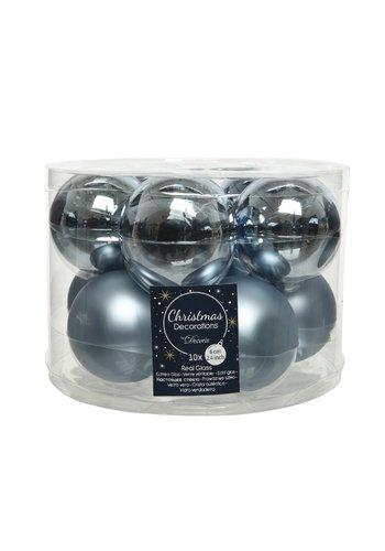 Decoris Kerstballen glas mat/glans d6cm winterlucht /10