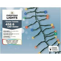thumb-LED budget cluster twinkle - green cable - Multicolour-1