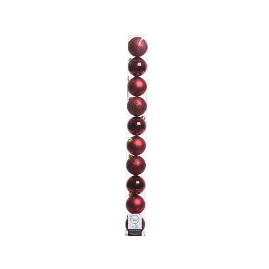 Kerstballen plastic/10 in koker dia 6cm oxblood-1