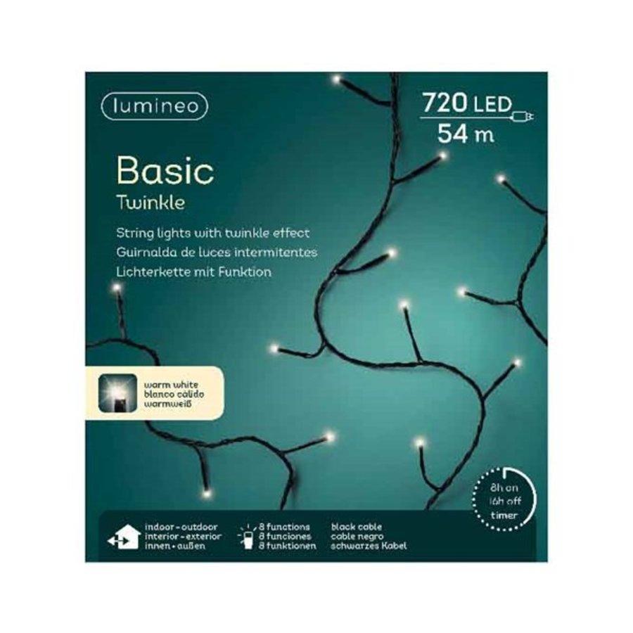 LED Basic Twinkle black cable - Warm Wit-3