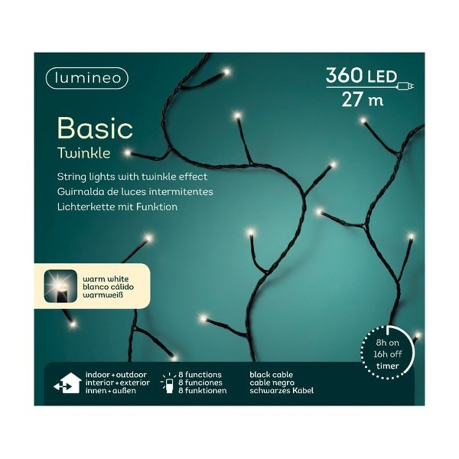 LED Basic Twinkle black cable - Warm Wit-5