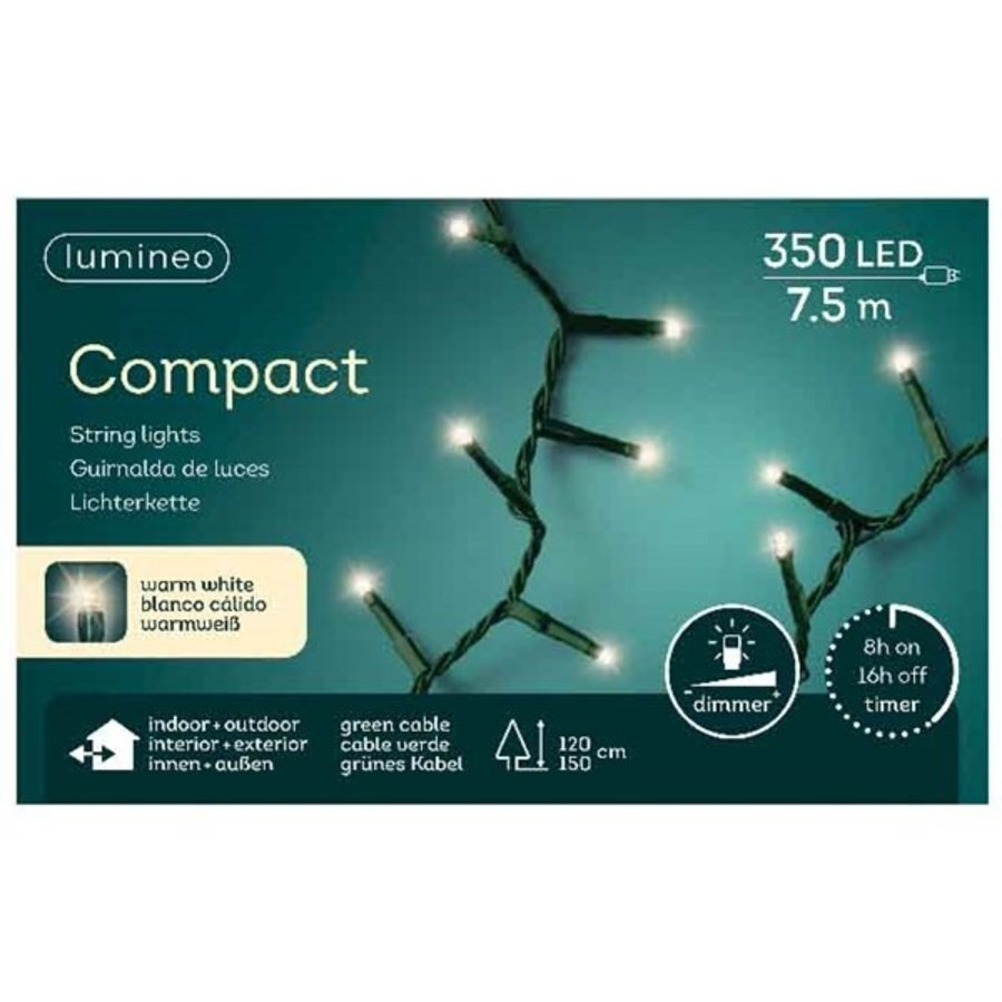 LED compact lights green cable - Warm Wit-6