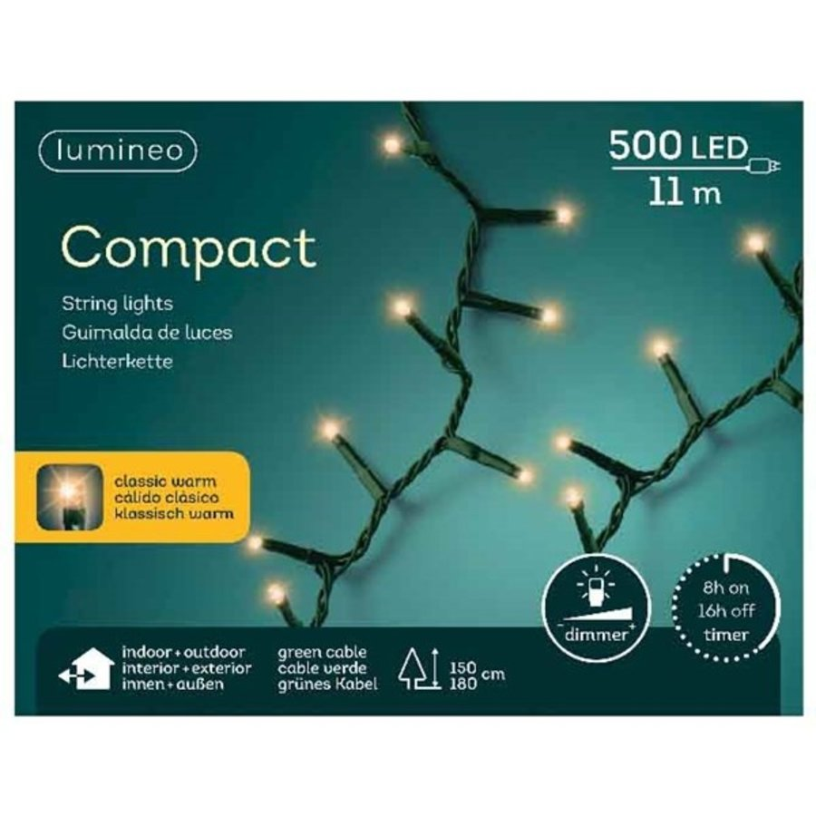 LED compact lights green cable -  Klassiek Warm-6