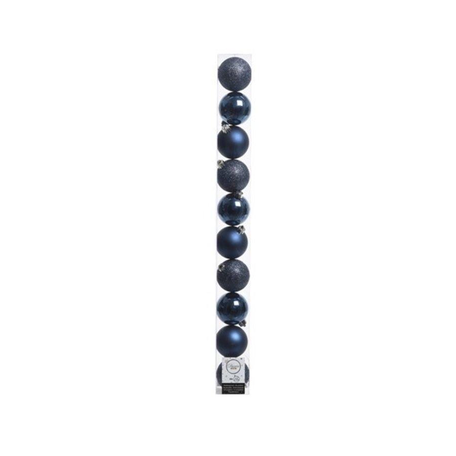 KerstbKerstballen plastic /10 in koker dia 6cm night blue-1