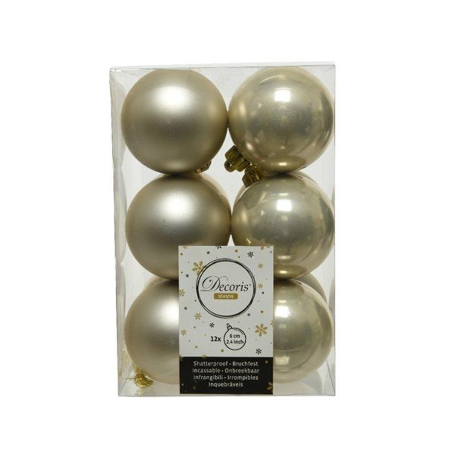 Kerstballen plastic /12 dia 6cm parel-1